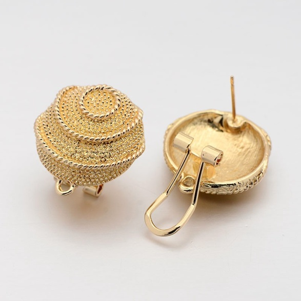 Alloy Dome Ear Studs