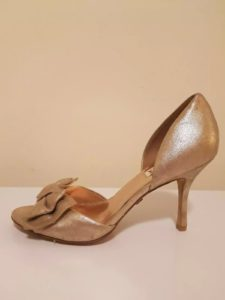BADGLEY MISCHKA Gold Heels