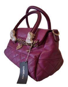BEBE Purple Leather Bag