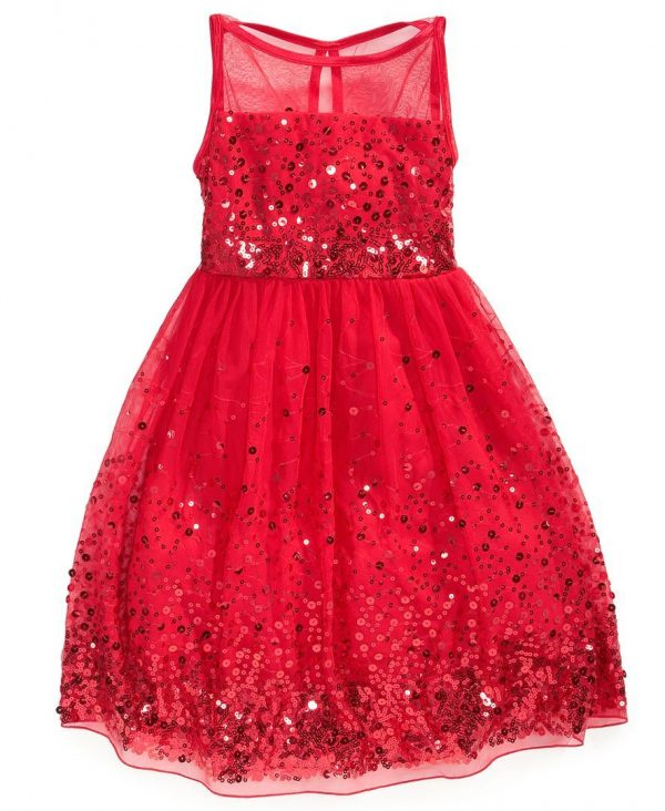 Crystal Doll Sequin Red
