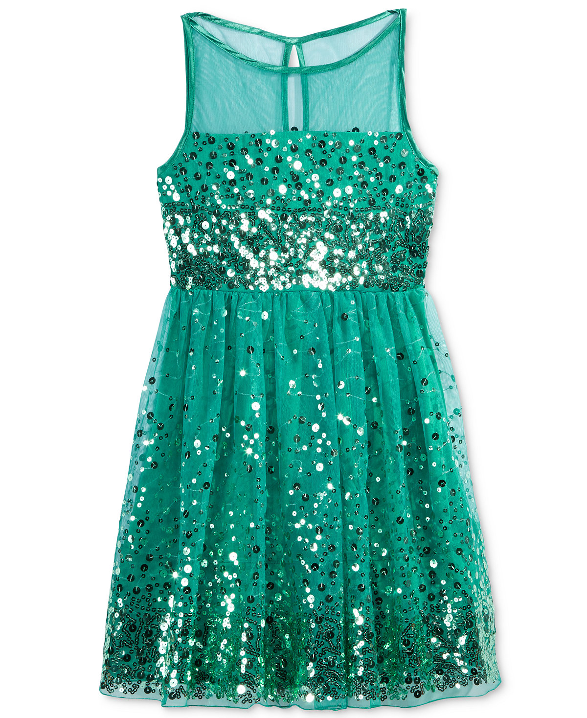e5d9868f38 Ruby Rox Crystal Doll Girls  Sequin Illusion Dress