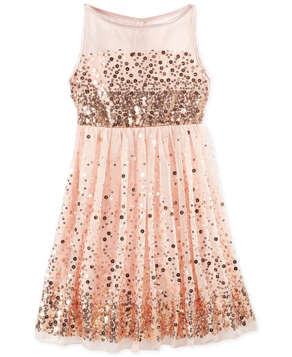 Crystal Doll Sequin peach