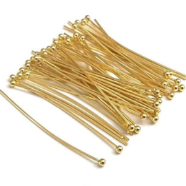 Gold Ball Head Pins