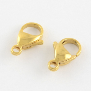 Golden Lobster Claw Clasps
