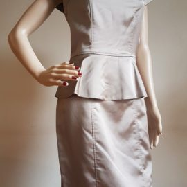 MARC NEW YORK Satin Peplum Dress