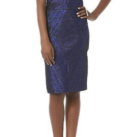 METAPHOR Metallic Jacquard Dress