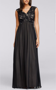 SANGRIA Embelished Bodice Formal Gown