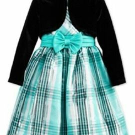 BONNIE JEAN Girls 2-Pc Bolero & Plaid Party Dress