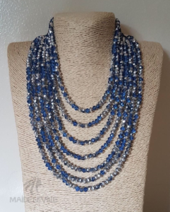 Blue Silver Crystal Necklace