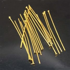 Gold Head Pins 21 gauge