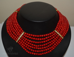 Red Coral 7 strand Necklace