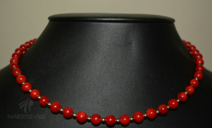 Red Single Strand Necklace