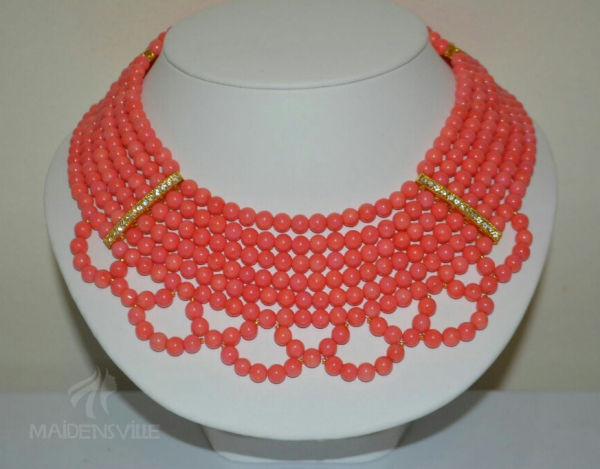 Coral Bead Necklace Extensions
