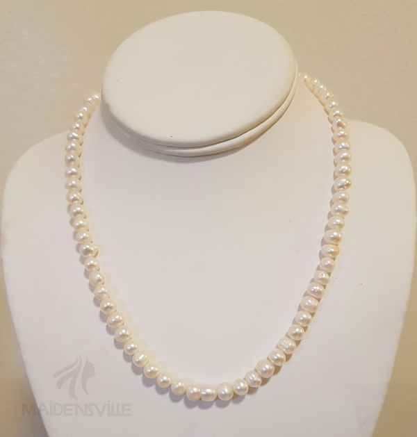 White Single Strand Necklace